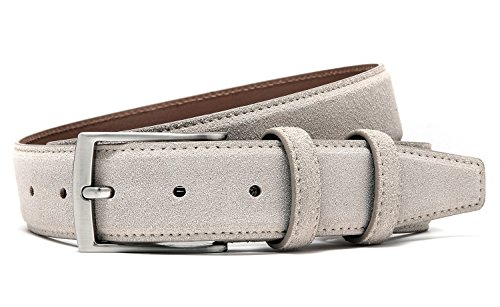 Ground Mind Extra Thickness Suede Leather Belt for Men,38,Beige