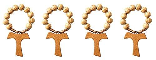 Olive Prayer Finger Rosary Cross product image
