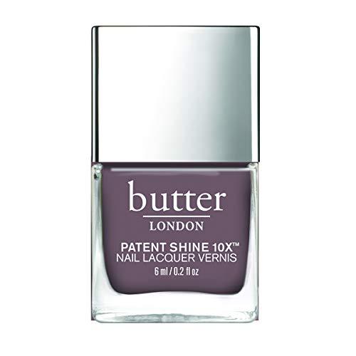 butter LONDON Mink Grey Patent Shine 10x Mini Nail Lacquer, 0.2 Fl. Oz.
