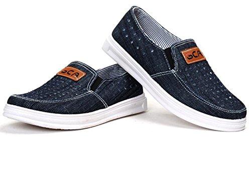 Zapatillas de deporte ligeras de los hombres / zapatos de conducción Zapatos de la red de denim Casual Luz cómoda y transpirable , 1 , EUR 41
