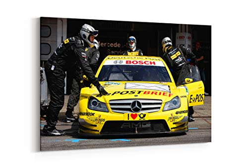 2011 DTM Mercedes Benz Bank Amg C Class Race Racing X - Canvas Wall Art Gallery Wrapped 40