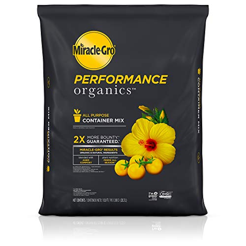Scotts Miracle-GRO Performance Organics All Purpose Container Mix, 1 cu. ft. - Organic, All Natural Plant Soil - Feed for up to 3 Months - All-Purpose Formula for Vegetables, Flowers and Herbs (Miracle Grow Potting Soil Vs Garden Soil)