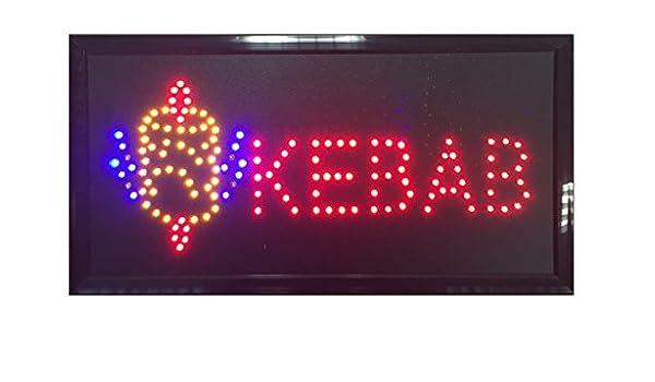 Rótulo luminoso LED Cartel Kebab pantalla Publicidad. (g ...