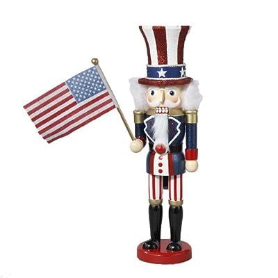 Kurt Adler 15-Inch Wooden Uncle Sam Nutcracker