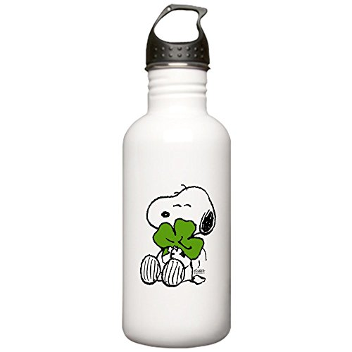 (CafePress - Snoopy Hugging Clover Stainless Water Bottle 1 - Stainless Steel Water Bottle, 1.0L Sports Bottle)