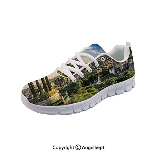 Safety Shoes for Men Town Aerial View of Heritage Casual Sports Shoes