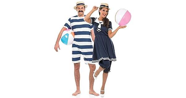 Amazon.com: Traje de baño para mujer y hombre Couples de los ...