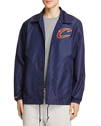 Mitchell & Ness Men's NBA Hardwood Classics Coaches Jacket (Cleveland Cavaliers, Large) (Mitchell And Ness Jacket)