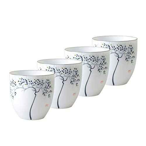 Hwagui - Chinese Ceramic Kung Fu Tea Cups Set of 4 150ml/5.1oz