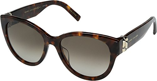 Marc Jacobs Women's Double J Cat Eye Sunglasses, Dark Havana/Brown, One - Sunglasses Jacobs Marc By