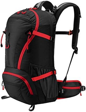 40Lアウトドアスポーツハイキングバックパック、 ナイロン布、 ロッククライミング/観光、 男性と女性,Black