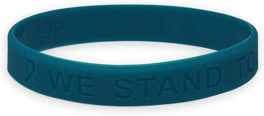 Amazon Com Ovarian Cancer Awareness Silicone Bracelet Jewelry