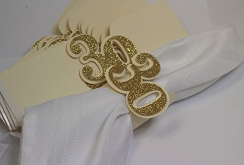 All About Details Gold 30 Napkin Holders, 12Pcs