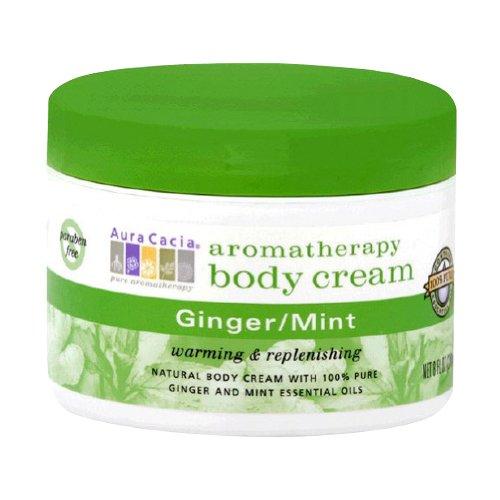 Aura Cacia Body Cream Ginger-Mint, 8 Fluid Ounce (Gingermint Body)