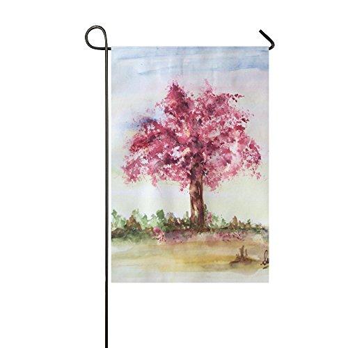 Yard Home Outdoor Decor - 12 x 18 inches Cherry Blossom Tree - Spring Polyester Garden Decor Flag Cherry Blossom Gardens