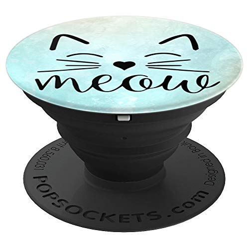 Meow Cute Cat Face Funny Costume Gadget for Cat Lovers - PopSockets Grip and Stand for Phones and Tablets]()