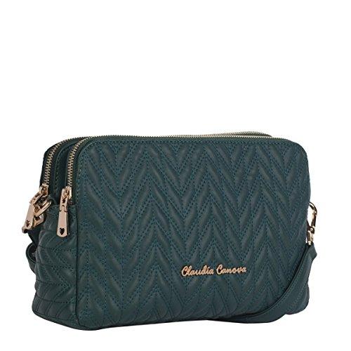 Claudia Canova-Sectioned-Felpa con Zip, a 82135, colore: Verde