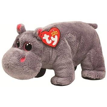 Ty 7142050 - Beanie Babies Tumba, peluche hipopótamo (15 cm), color gris