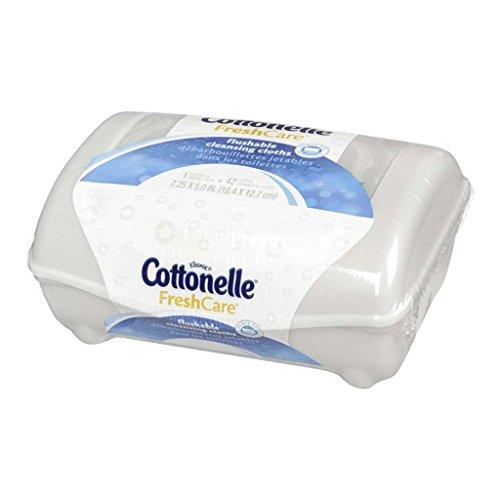 Cottonelle Fresh Flushable Moist Wipes Pop-Up Tub 42 Each (Pack of 2)