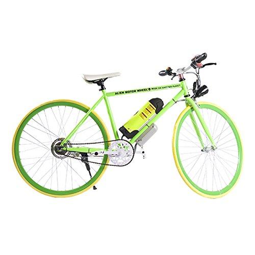 ELECTRIC Fixie Bike 350W 33MPH Alien Motor Wheels TM (GREEN/YELLOW/GREEN/YELLOW)