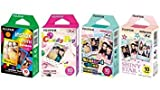 Photo : Fujifilm InstaX Mini Instant Film Rainbow & Staind Glass & Candy Pop & Shiny Star Film -10 Sheets X 4 Assort Value Set