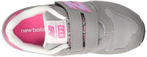 New Balance Kv373Fly - Zapatillas infantil, color gris / rosa