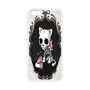Skeleton Cat IPhone 6 Case, Dustin - White