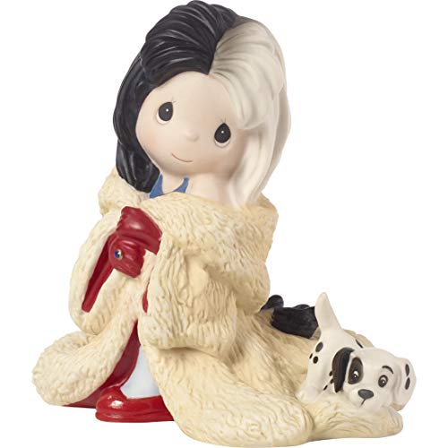 (Precious Moments Disney Showcase Collection You're Such A Dahling Cruella De Vil Bisque Porcelain 183071 Figurine One Size Multi)