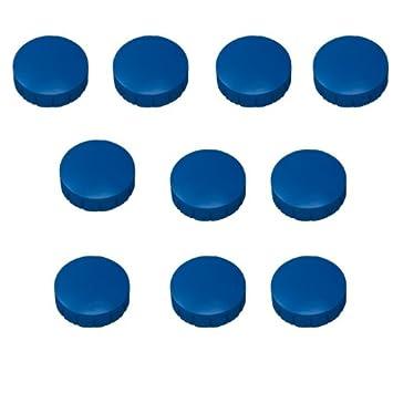 10x Magnete Blau Ø 20 mm Haftmagnete Magnete für Magnettafel, Boards, Magnet Rund, Blau Faxland