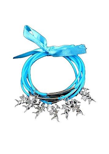 - Ava Adorn Cupid Multi-Line Cord Bracelet - White