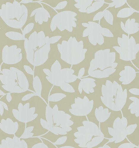 - Kenneth James 566-43942 Echo Design Freesia Taupe Fun Floral Wallpaper