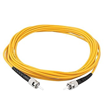 Cord eDealMax 5M 16.4ft Cable de Puente Simplex Monomodo ST-ST fibra óptica Patch