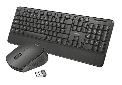 Trust Thoza - Teclado y ratón inalámbricos para Funciones Multimedia, Color Negro: Amazon.es: Informática