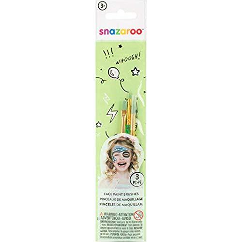Snazaroo Face Paint Starter Brushes 3/Pkg-Green ()