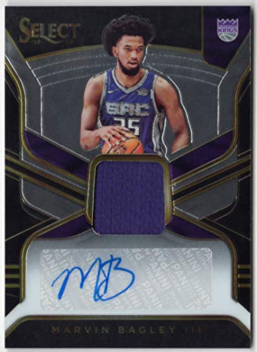 Marvin Bagley III 2018-19 Panini Select Rookie Auto Jersey Card Serial #090/199 Sacramento Kings RC Autograph