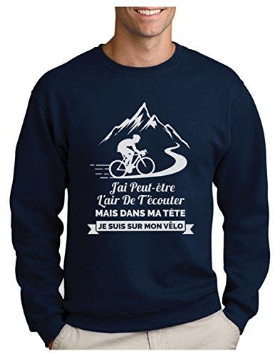 Sur Humour Turtle Marine Homme Je De Sweatshirt Dans Fan Ma shirts Tête Vélo Cadeau Mon T Suis Green 8qBdCB
