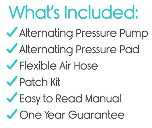 Premium Alternating Air Pressure Mattress for Medical Bed | Pressure Sore  and Pressure Ulcer Relief | Includes Ultra Quiet Pump and Pad Topper | Fits