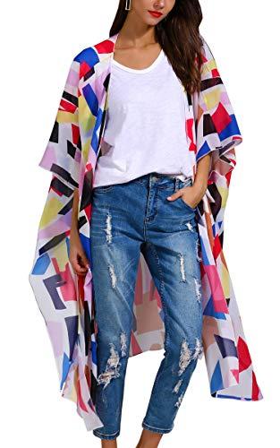 Hibluco Women's Sheer Chiffon Fl...