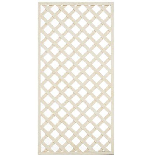 ウッディープラフェンス 巾90cmx高180cm ホワイト B00KSSG846 11270