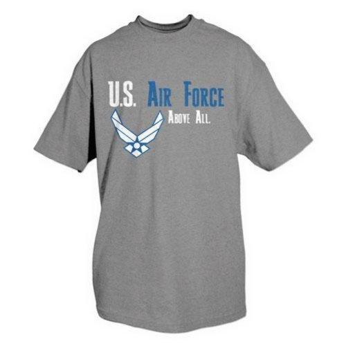 Fox Outdoor Products Air Force One-Sided Imprinted U.S. Air Force Above All T-Shirt, Medium