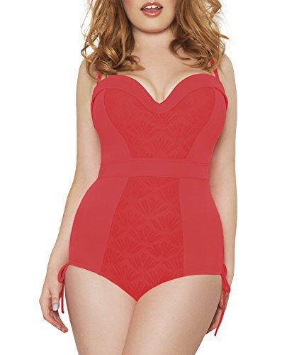 Curvy Kate Women's Siren One Piece Swimsuit, Coral, 30G