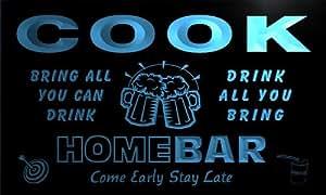q08922-b COOK Family Name Home Bar Beer Mug Cheers Neon Light Sign