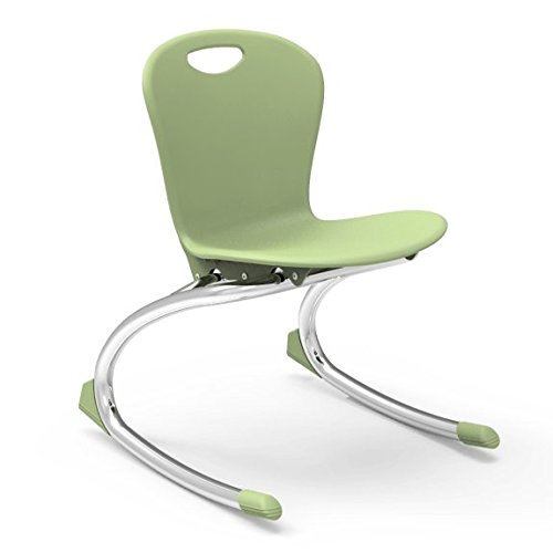 - Virco Student Chair, Green Apple, Soft Plastic Shell, 15