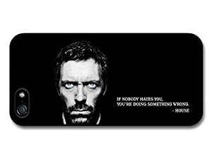 Doctor House MD Hugh Laurie TV Series Life Inspirational Quote Case For Iphone 5/5S Cover