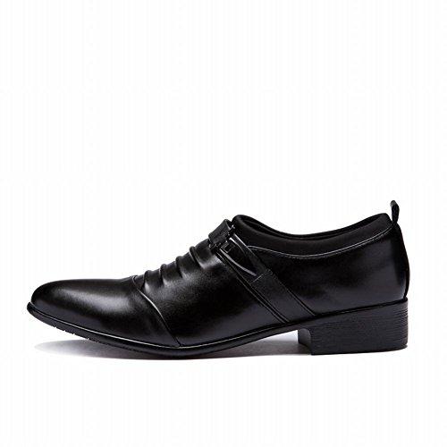 Latasa Heren Geplooide Slip Op Monniksloaf Instappers Schoenen Zwart