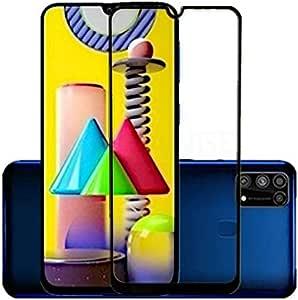 لحماية شاشة سامسونج جالاكسي M31 بالكامل، غشاء واقي شاشة زجاجي شفاف عالي الدقة 9H صلب عالي الدقة