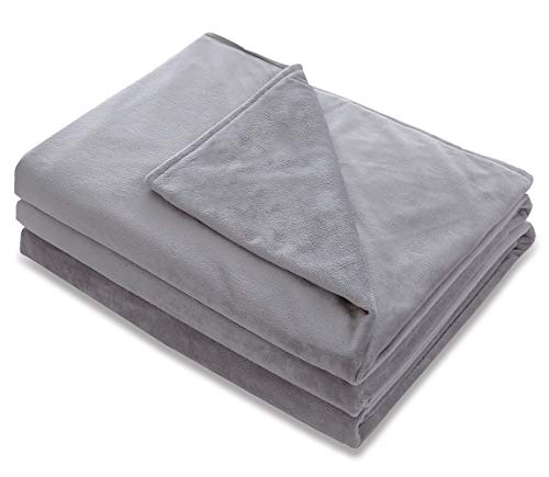 Amy Garden Premium Duvet Covers Soft Removable Cover for Weighted Blanket Inner Layer,Grey 1-48x72 (Duvet Cover ONLY)