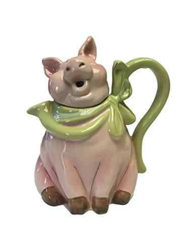 Blue Sky Clayworks Ceramic Figural Teapot Pig