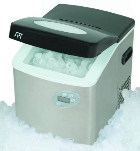 Sunpentown-IM-101S-Portable-Ice-Maker-with-LCD-with-Stainless-Steel-Body