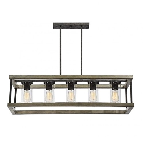 Pemberly Row 5 Light Outdoor Chandelier in Weathervane (Weathervane Lamp)